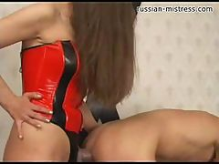 Stella is an angry mistress who takes it out on her male slave