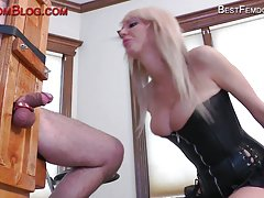 Masked guy punished by mistress