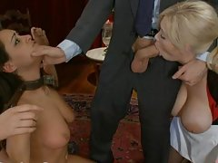 Blonde and Brunette Slaves Get Private BDSM Party