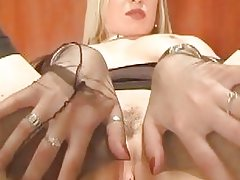 Masturbation in nylon
