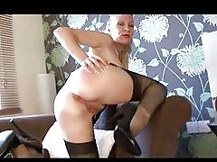 Fingering in Lingerie and Fully Fashioned Nylon Stockings